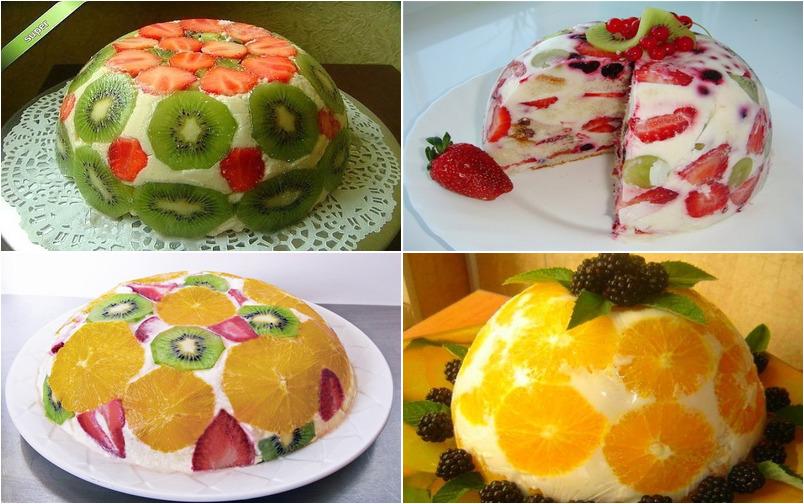 Фруктовые тортики без выпечки.