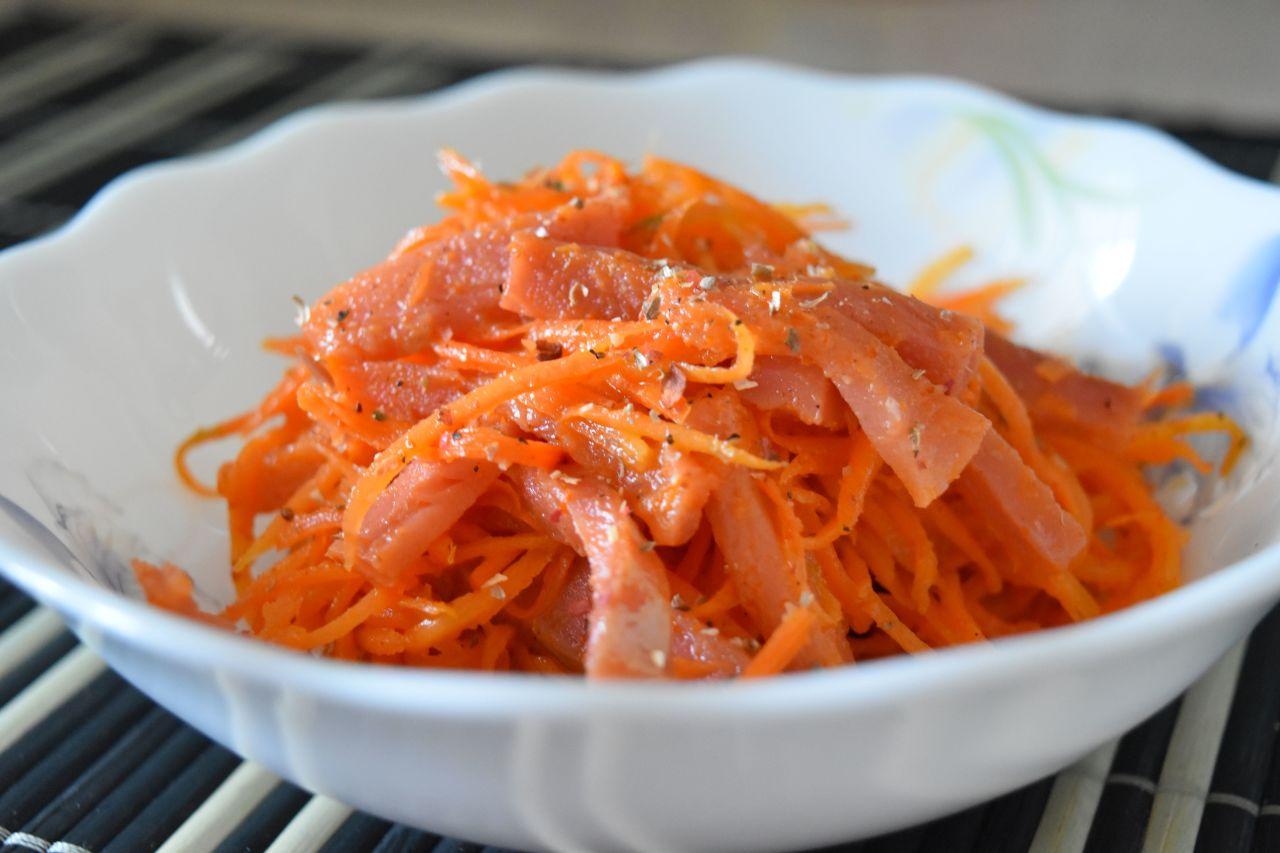 Рыбный салат по-корейски